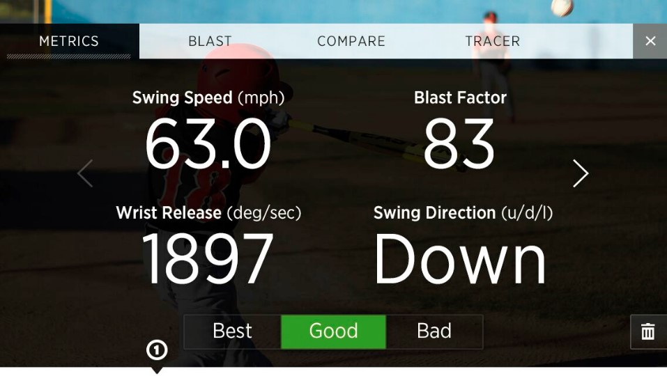 Blast Motion Dashboard 2