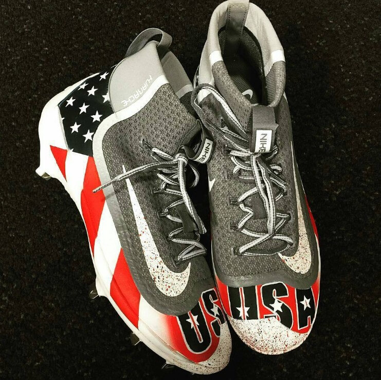 american flag baseball cleats
