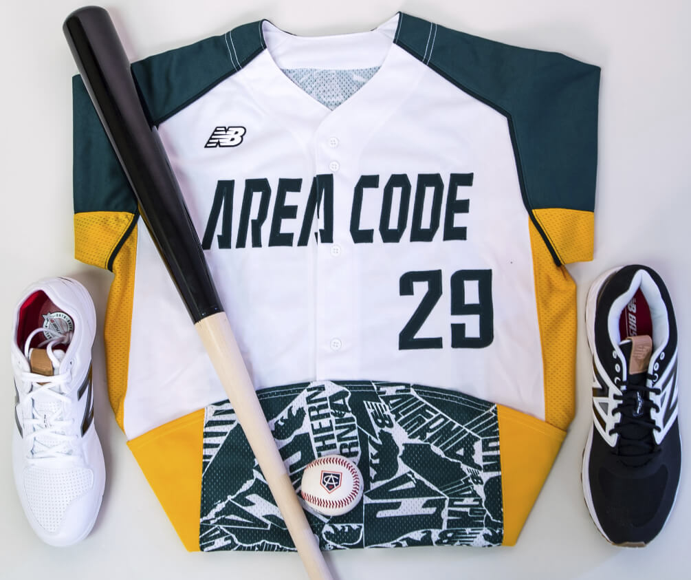 A's Jerseys Area Code Games
