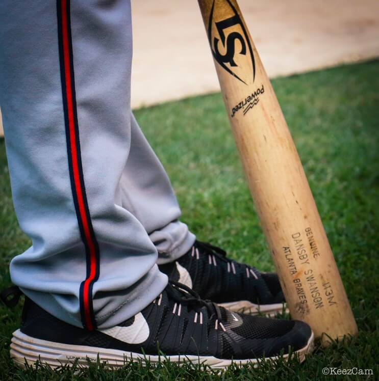 Dansby Swanson Nike Turfs and Bat