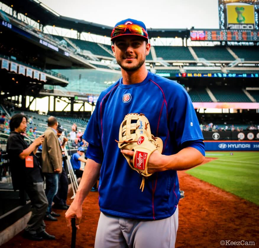 Kris Bryant Glove Post