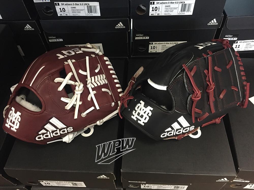 Mississippi State Adidas Baseball Gloves