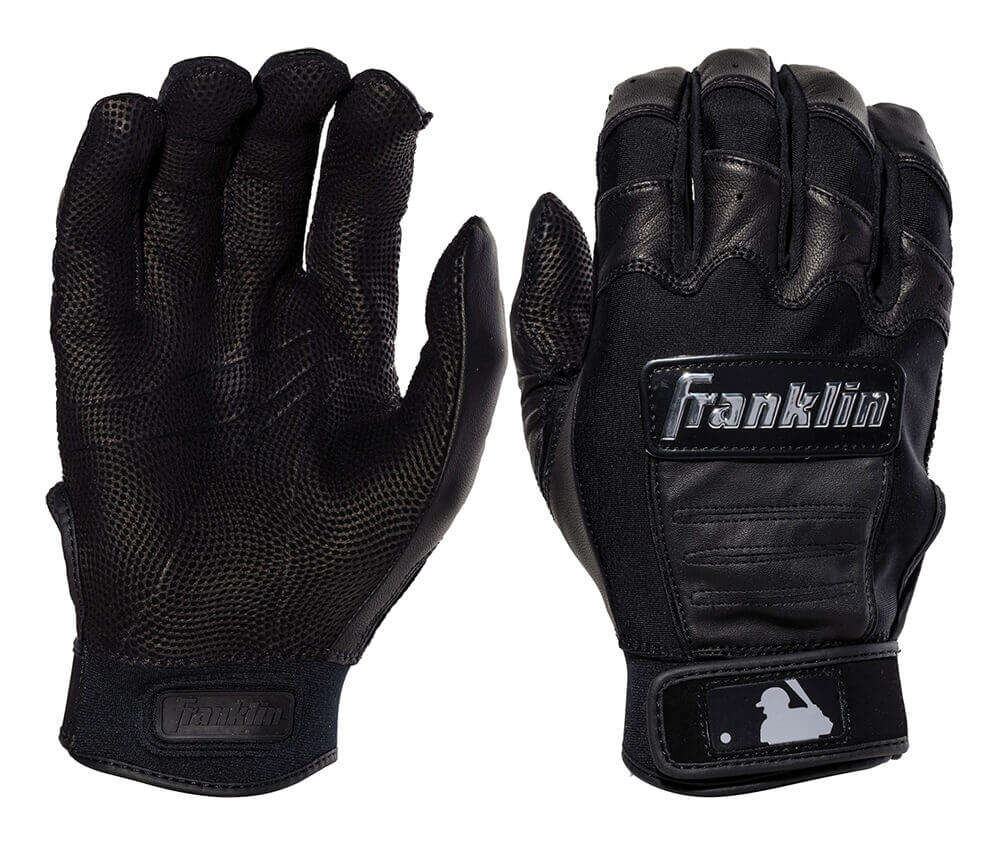 Franklin Chrome Dip Batting Glove Black