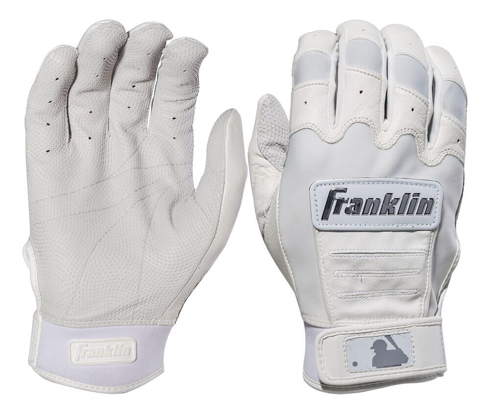 Franklin Chrome Dip Batting Gloves White