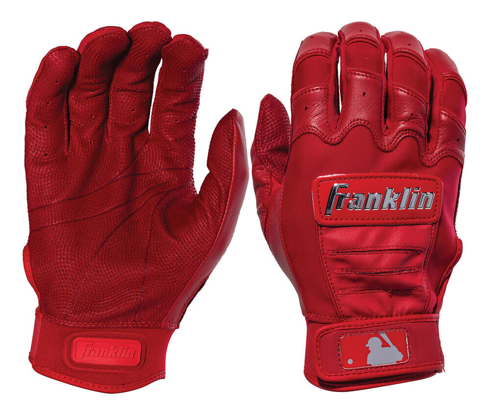 Franklin Chrome Dip Red Batting Gloves