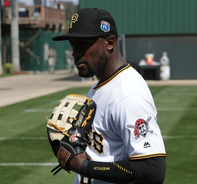 Starling Marte Rawlings Glove Side Shot