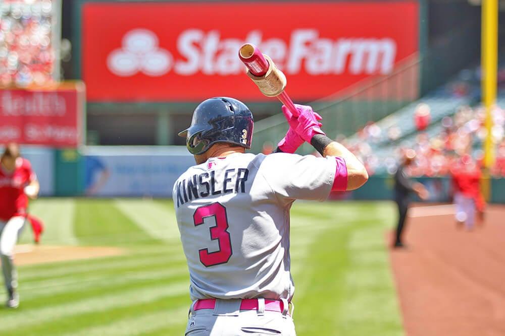 Ian Kinsler batting gloves