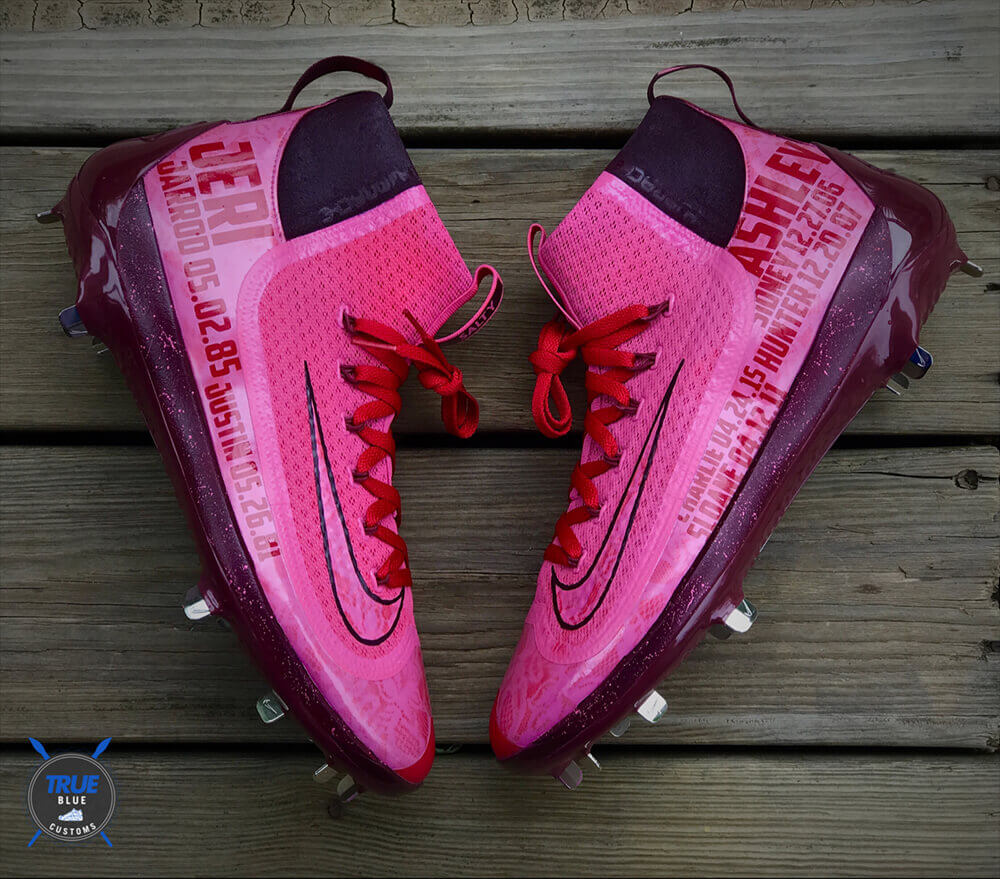 Jarrod Saltalamacchia Cleats Mothers Day 2017