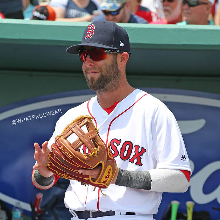 What Pros Wear Dustin Pedroia s Wilson A2000 DP15 SuperSkin Glove ... 2280d64e782