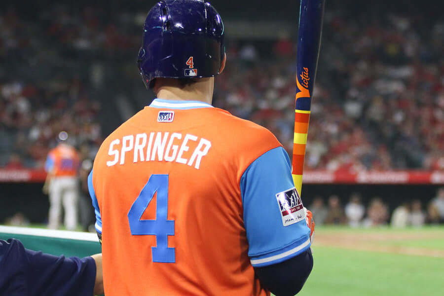 premium selection 73cdf 246f4 What Pros Wear: George Springer