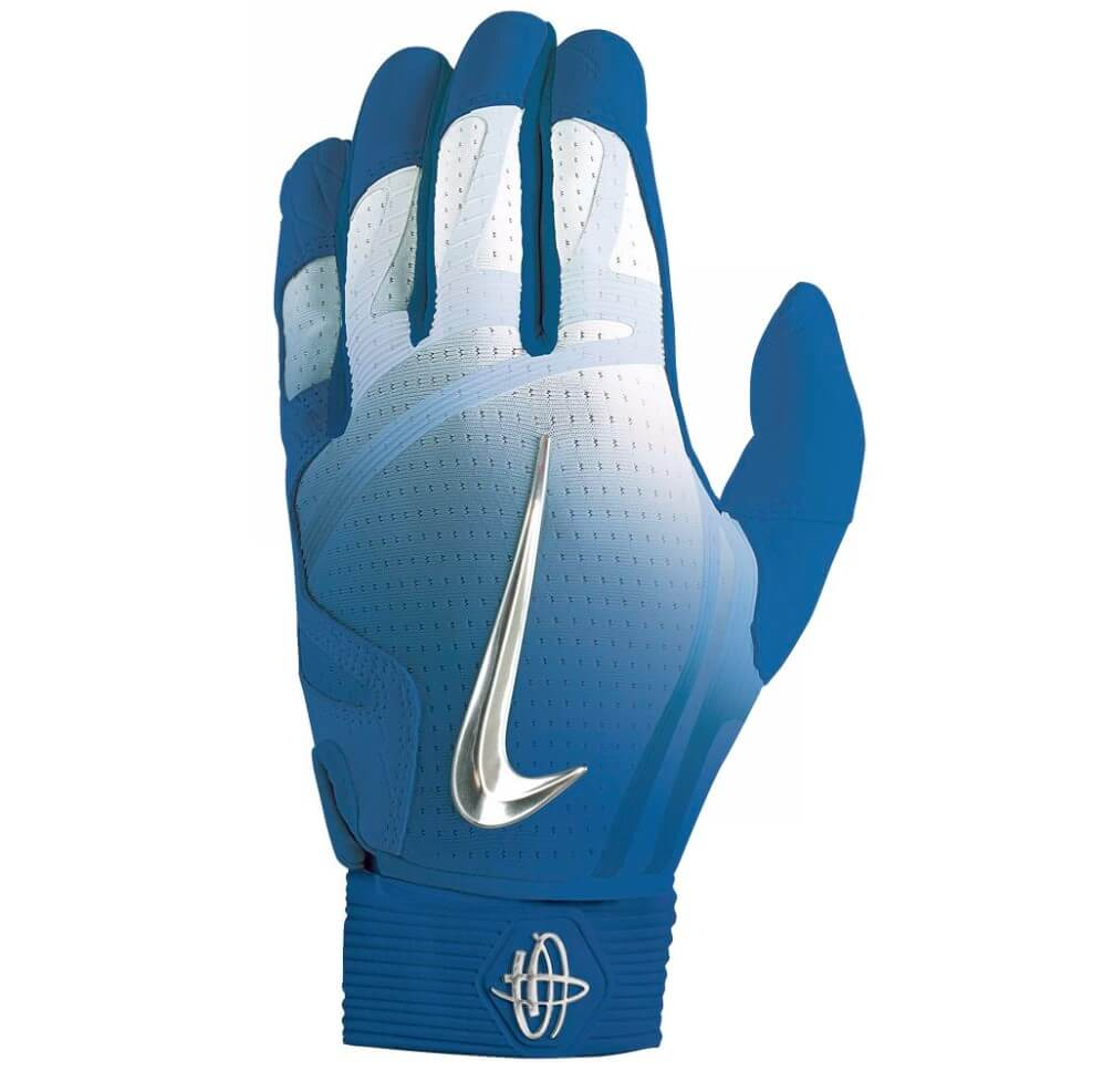 Nike Huarache Elite Batting Gloves blue