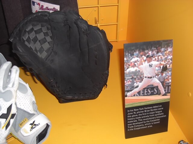 Brian Gordon's Carpenter Trade synthetic custom on display at the National Baseball Hall of Fame and Museum