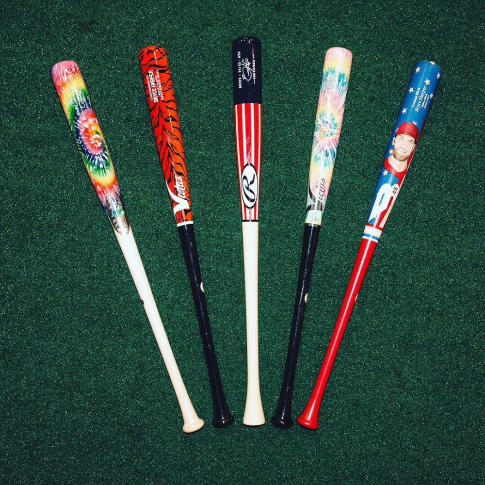 bryce harper players weekend bats