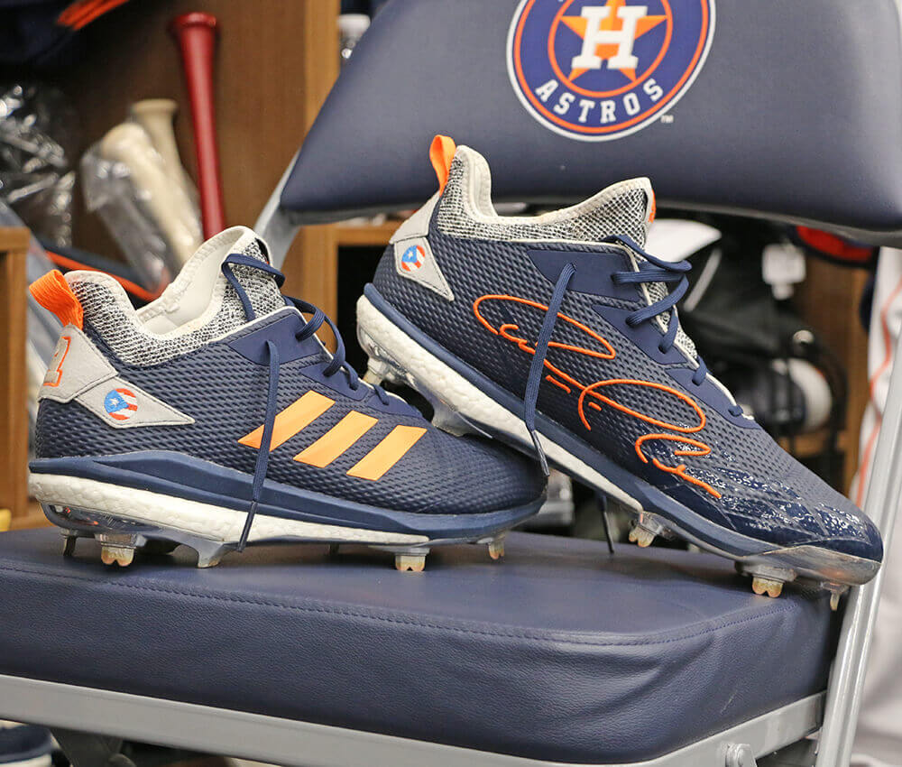 34c69ee0789 What Pros Wear Carlos Correa s Adidas adiZero Afterburner V Cleats ...