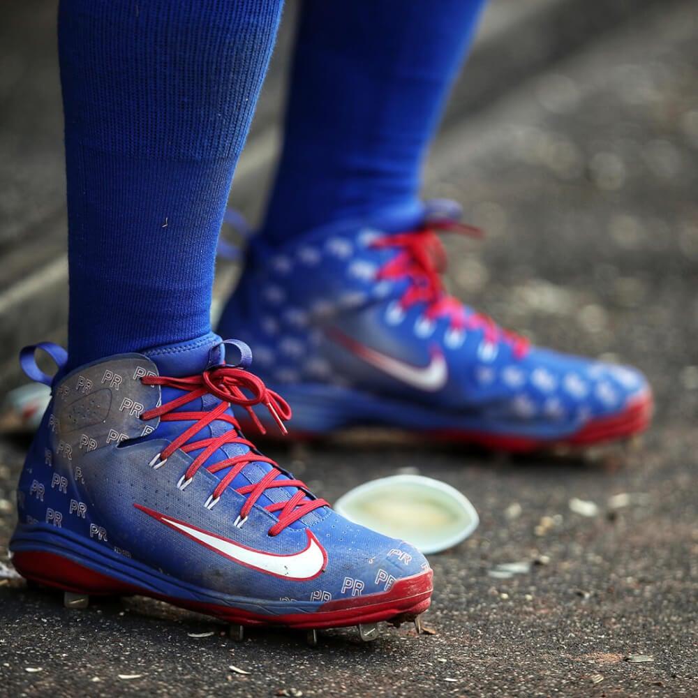 c9d1506f77fa33 What Pros Wear Javier Baez Nike Alpha Huarache Elite Cleats (PE ...
