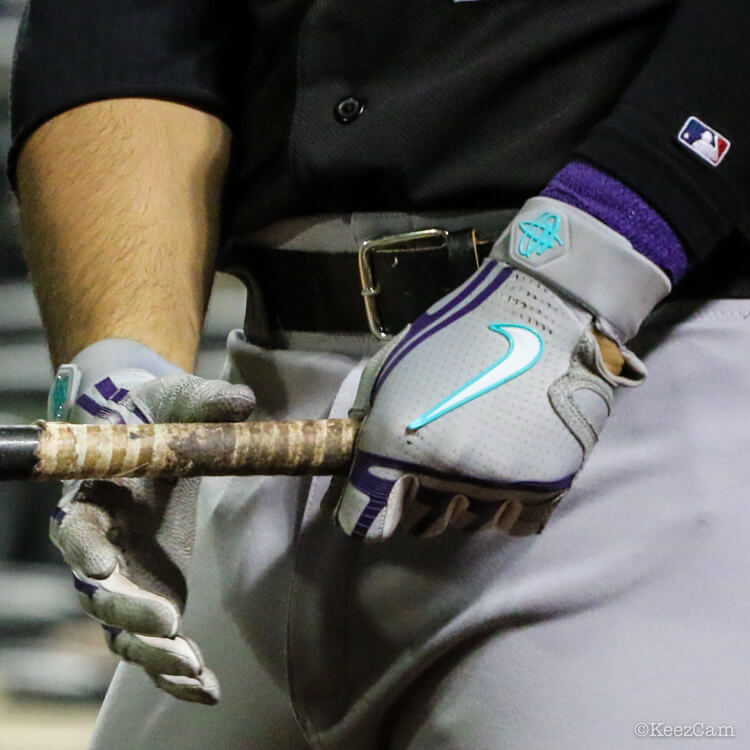 ed05209caa795b What Pros Wear Nolan Arenado s Nike Huarache Elite Batting Gloves ...