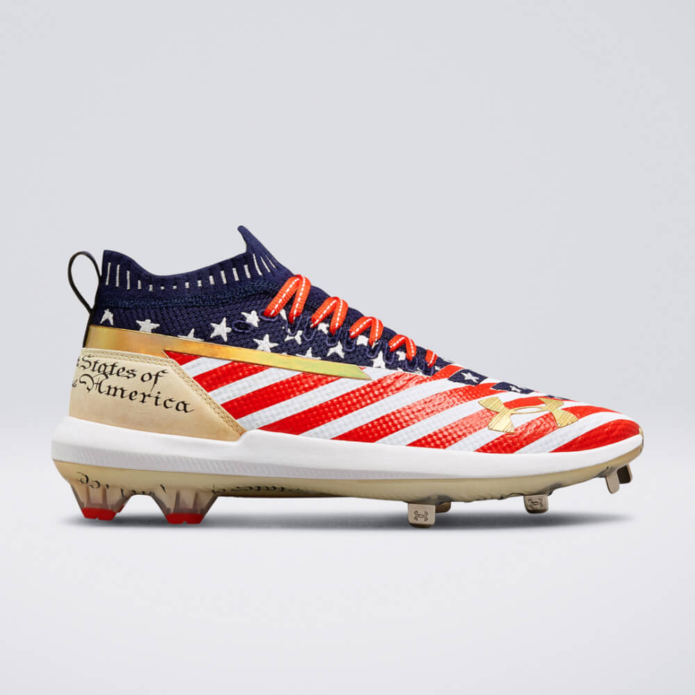 3d022d47b356 Bryce Harper's cleat game is insanely strong. The type of heat that Under  Armour keeps pumping out on these Harper signature cleats, in our opinion,  ...