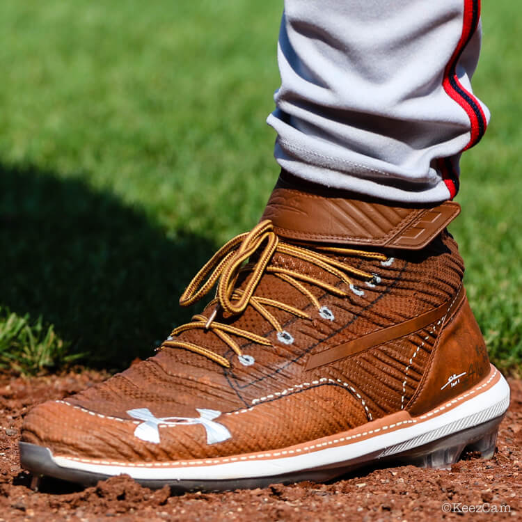61546090808 Bryce s cleats completed the tribute to his dad. These Harper 3 cleats