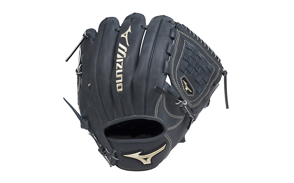 af85fc0bcab8 Corey Kluber is about as dominant of a pitcher as it gets, and he gets the  job done with a Mizuno Pro Limited in Navy. It is a Navy and Cream glove,  ...