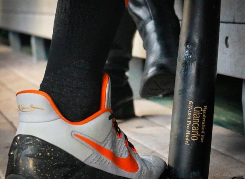 Giancarlo Stanton's Nike Kobe AD Shoes
