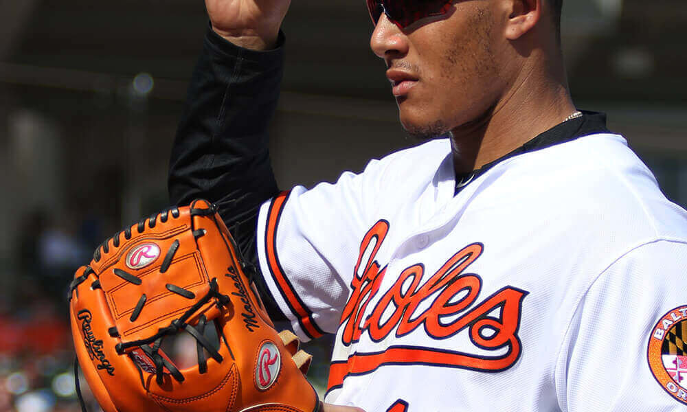 promo code 2159d 6e1c4 What Pros Wear: Manny Machado's Rawlings Heart of the Hide ...