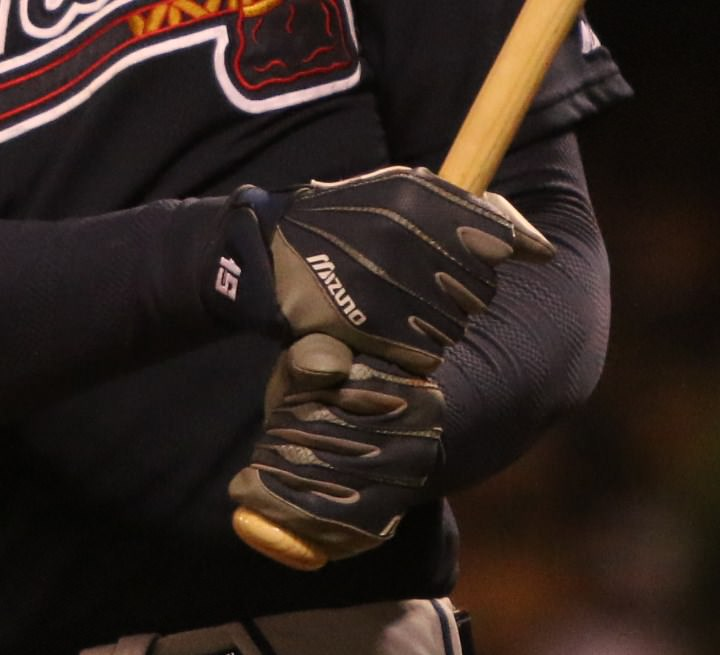 eaae8a67bb44 The Mizuno Vintage Pro are also worn by Yoenis Cespedes. Simmons wears his  in navy/grey on the road, and we've seen him in red/white at home.