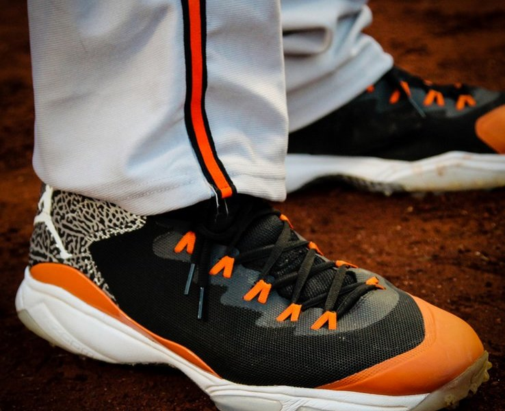 hot sale online e8bc4 51655 Manny Machado s Jordan Super.Fly 3 Cleats and Turfs