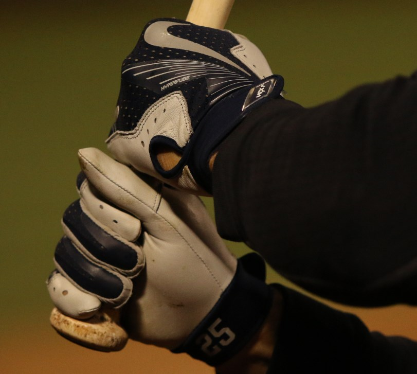 info for 8a6c0 2c6cb What Pros Wear  Mark Teixeira s Nike Vapor Elite Pro Batting Gloves - What  Pros Wear
