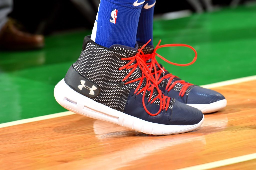 buy popular a485a 4b8ae What Pros Wear: Joel Embiid's Under Armour HOVR Havoc Shoes ...