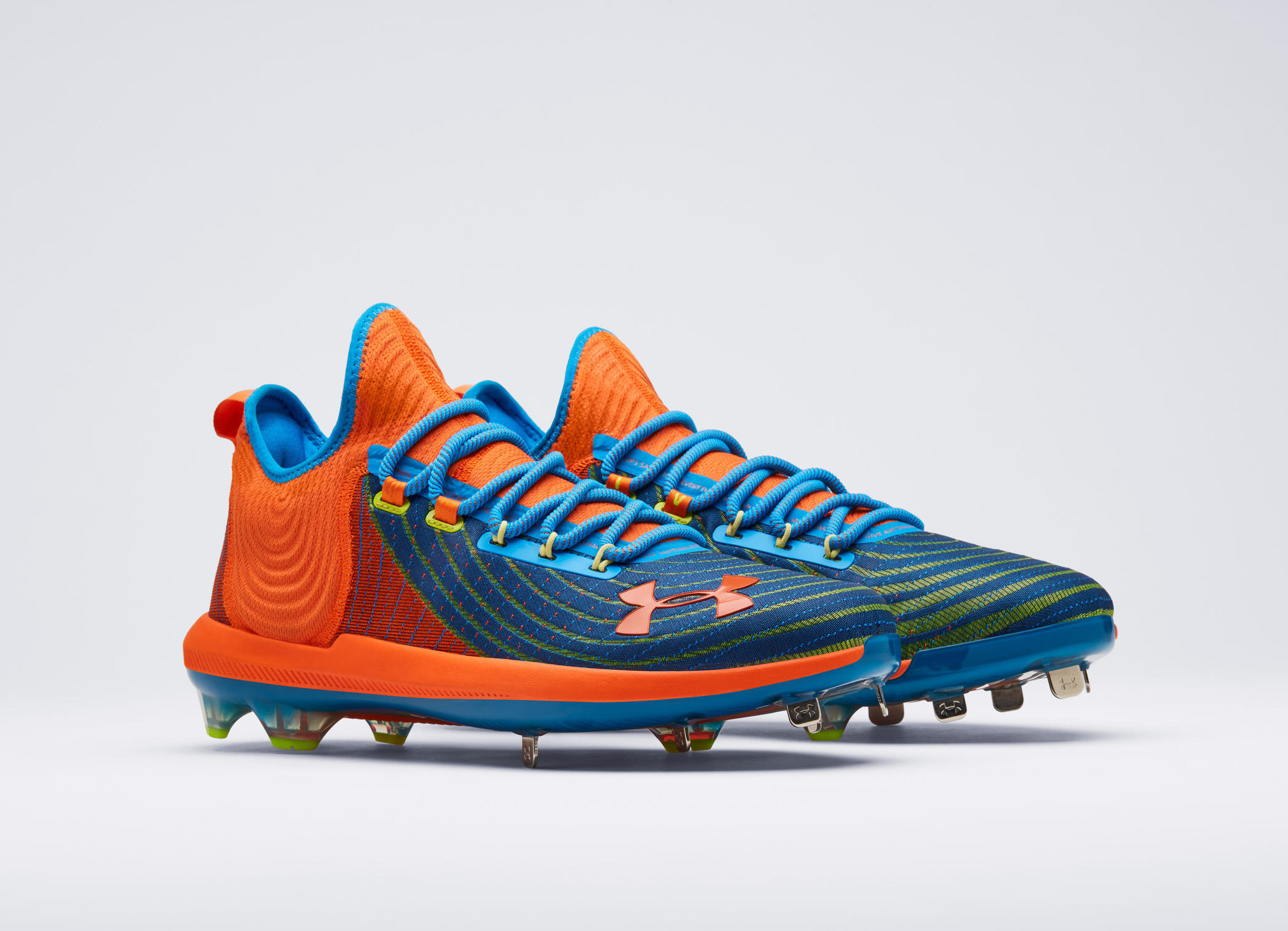 """8e9d9611bf2b Bryce Harper's newest iteration of the Harper cleat line, the Harper 4,  will take on another wild colorway after its Memorial Day """"Razzle Dazzle""""  debut."""