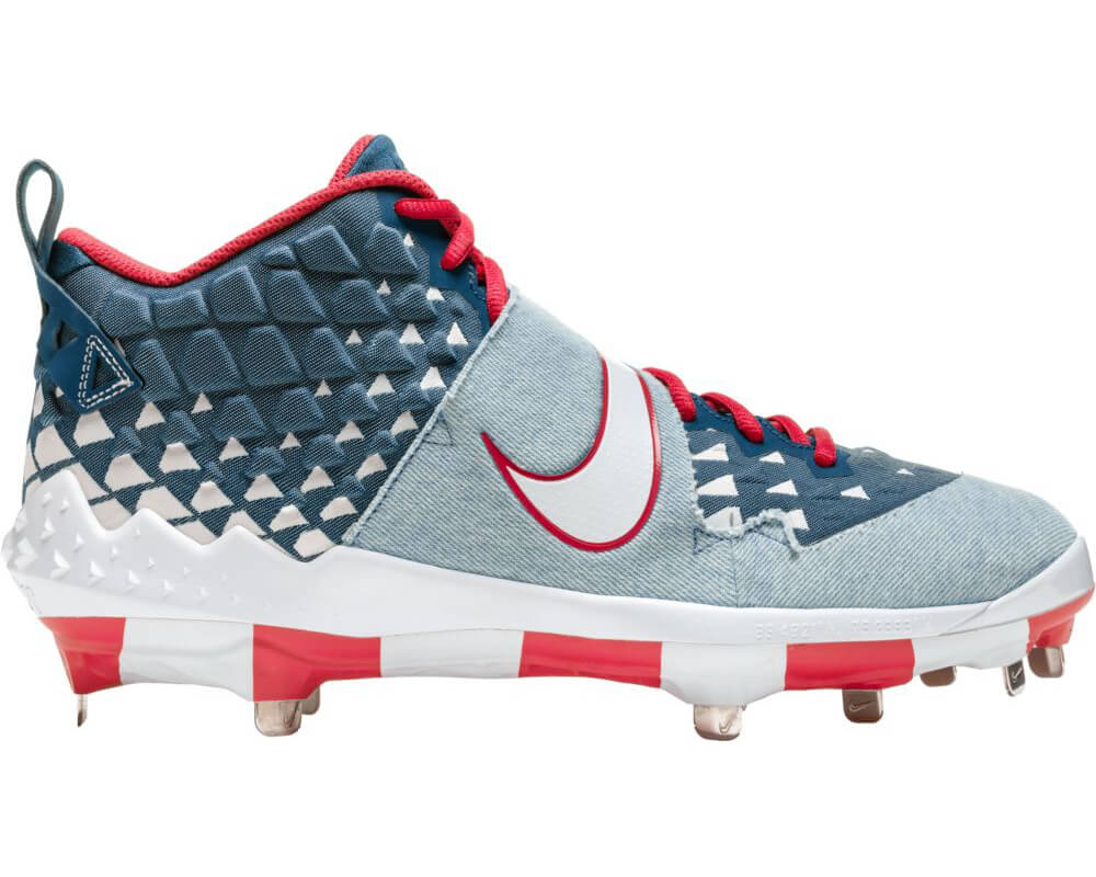 """Nike Force Zoom Trout 6 """"Denim"""" Cleats"""