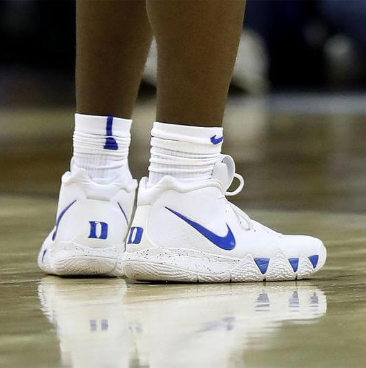 separation shoes 32ad2 a6123 What Pros Wear: Zion Williamson's Nike Kyrie 4 Shoes - What ...