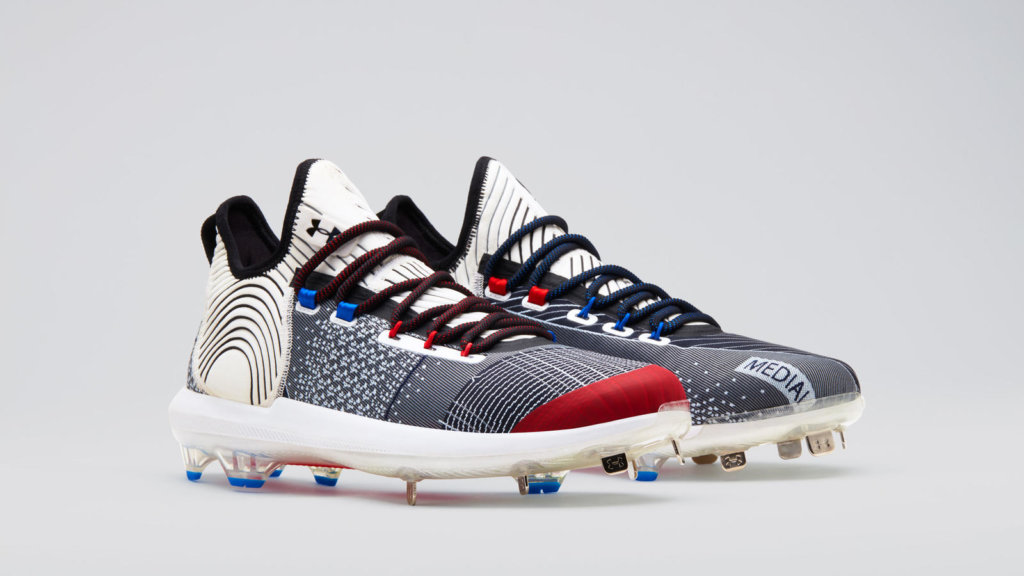 red white and blue bryce harper cleats