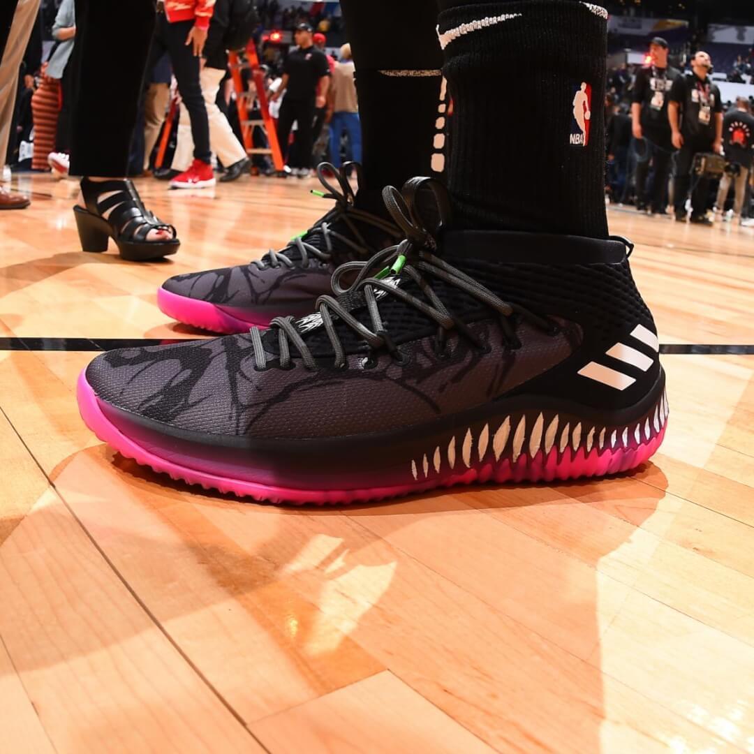 Donovan Mitchell's adidas Dame 4 Shoes