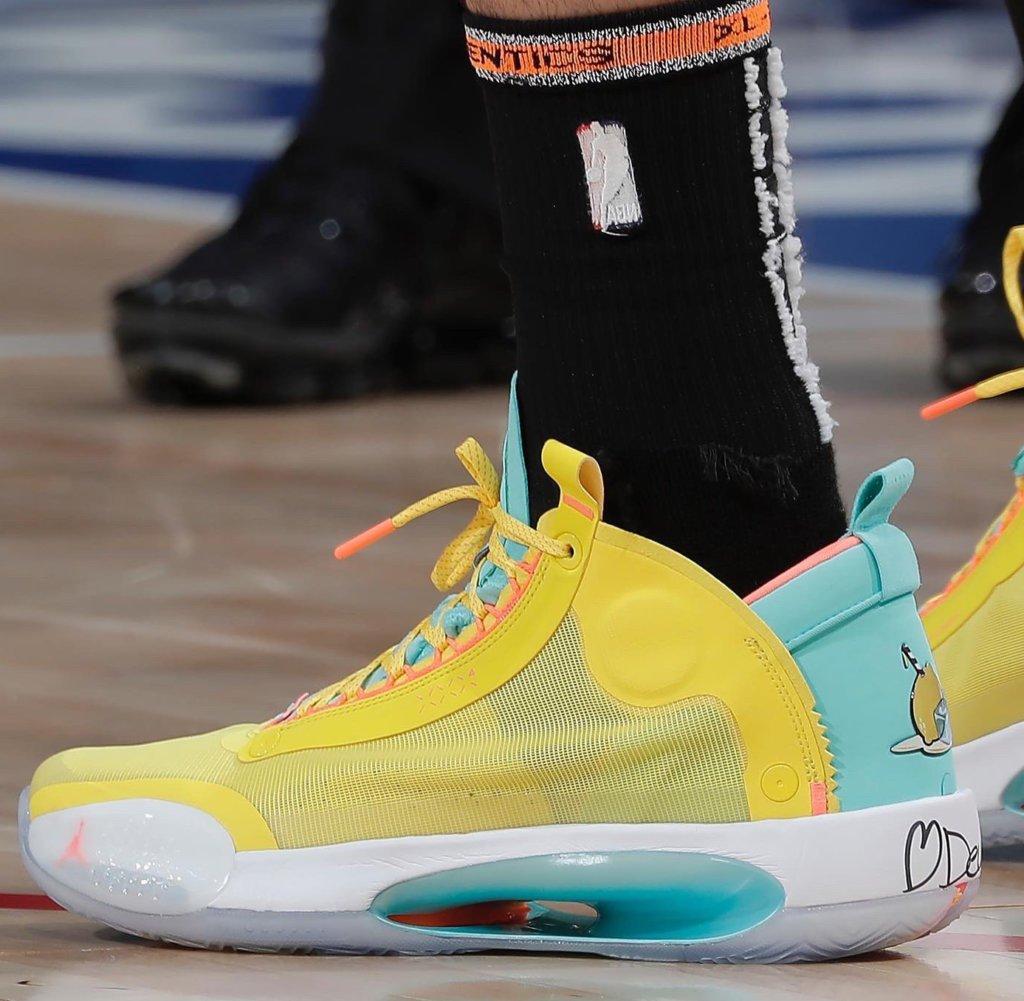 Jayson Tatum's Air Jordan 34 Shoes