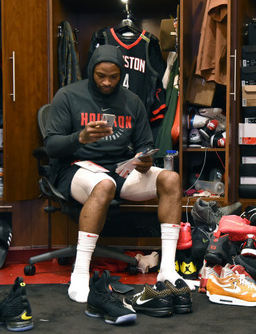 What Pros Wear: P.J. Tucker Signs Back