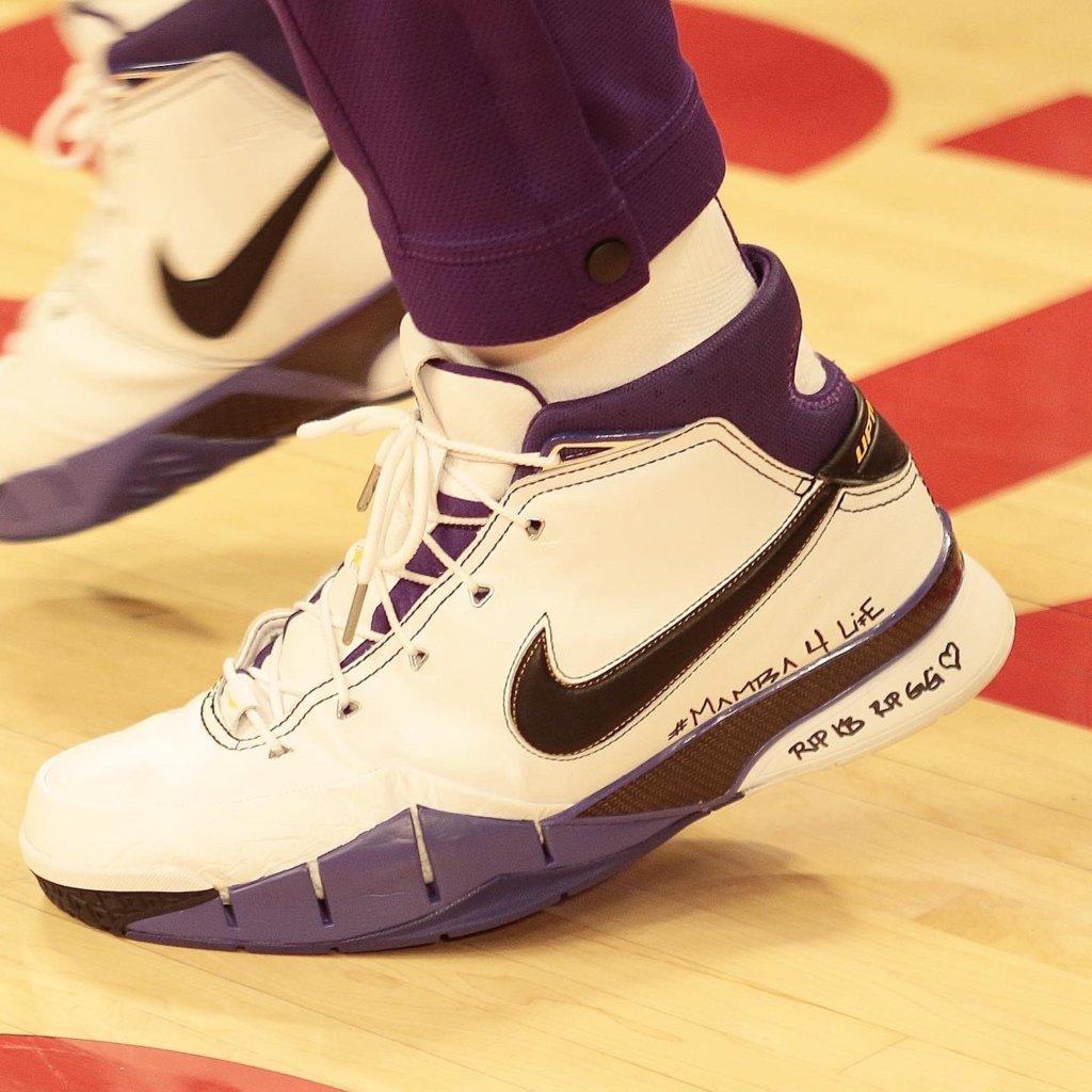 LeBron James' Nike Kobe 1 Protro Shoes