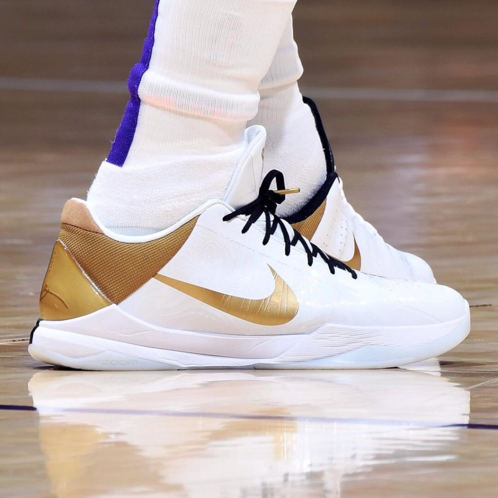 LeBron James' Nike Kobe 5 Protro Shoes