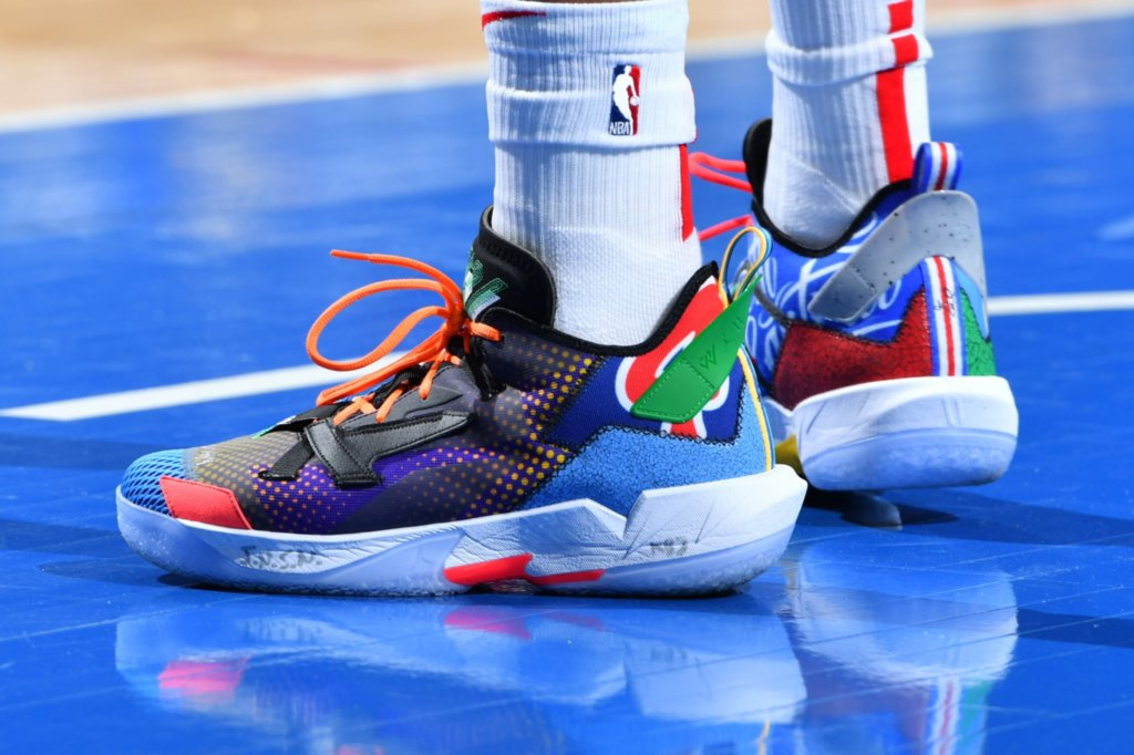 What Pros Wear: Russell Westbrook's Jordan Why Not Zer0.4 Shoes ...