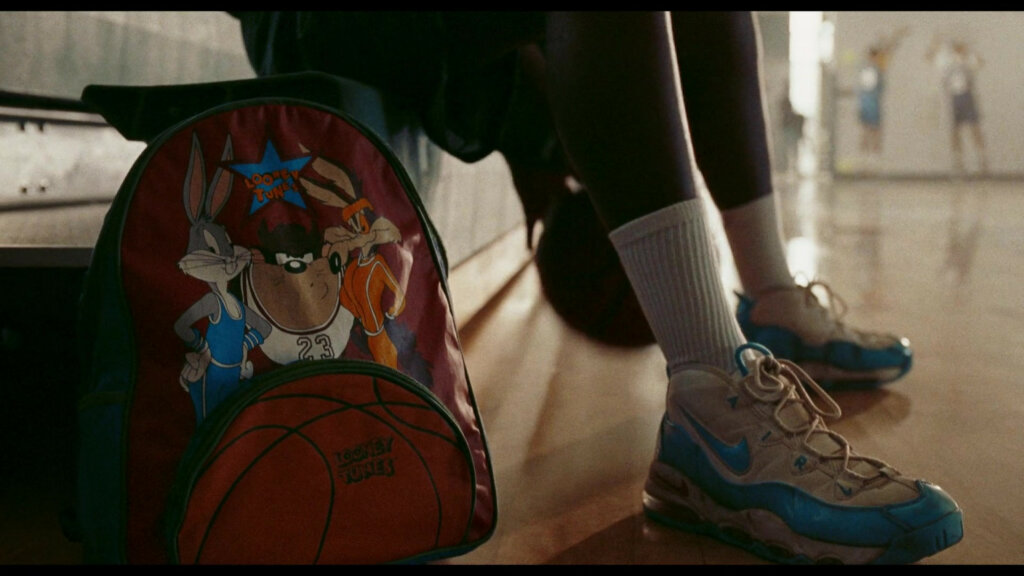 Nike Air Max Uptempo 95 Blue Fury Sneakers of Stephen Kankole as a young LeBron in Space Jam A New Legacy 2 1536x864 1 -