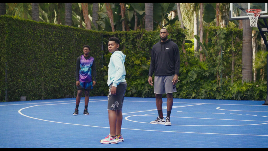space jam 2 dom wearing nike air max 2 light shoes -